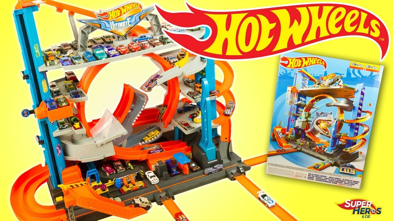 Hot Wheels Ultimate Garage With Looping And Shark Attack Toys Review Mattel destiné Voiture Requin Jouet