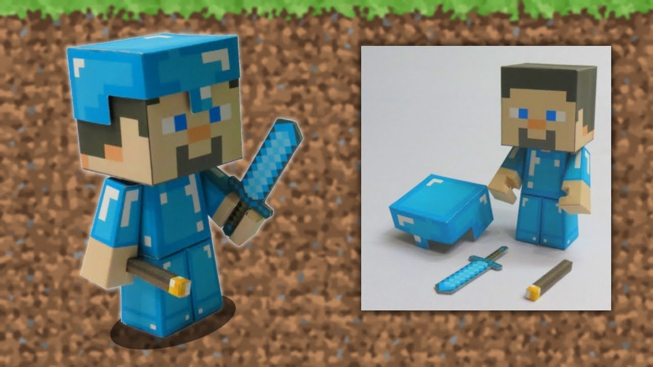 How To Create Steeve Of Minecraft In Papercraft | Diy Easy And Fast  Papercraft avec Paper Toy A Imprimer