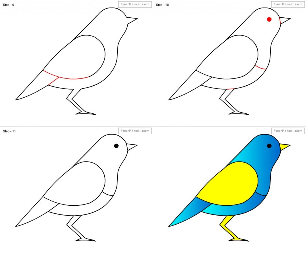 How To Draw A Bird Step By Step Easy With Pictures | Dessin destiné Dessin D Oiseau Simple