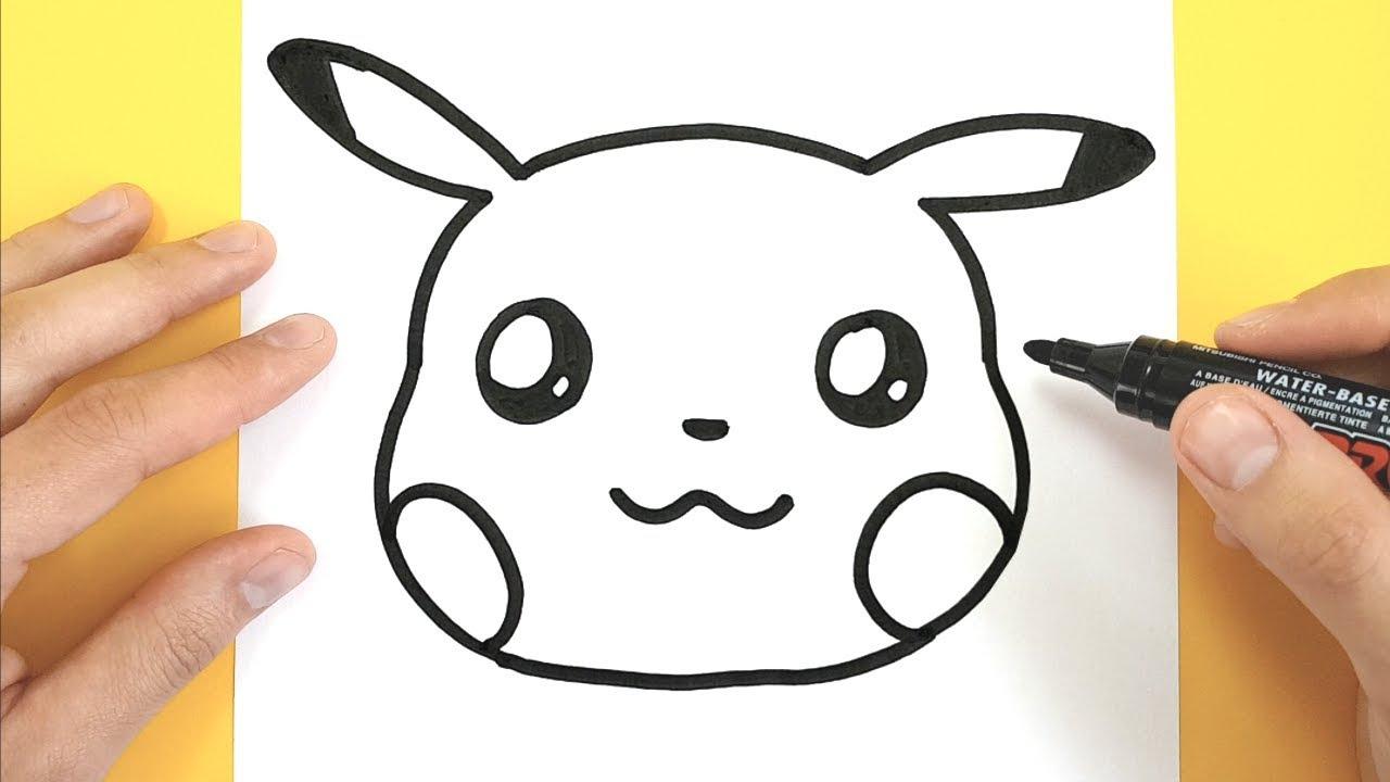 How To Draw A Cute Pikachu Emoji Kawaii destiné Dessin De Pikachu Facile