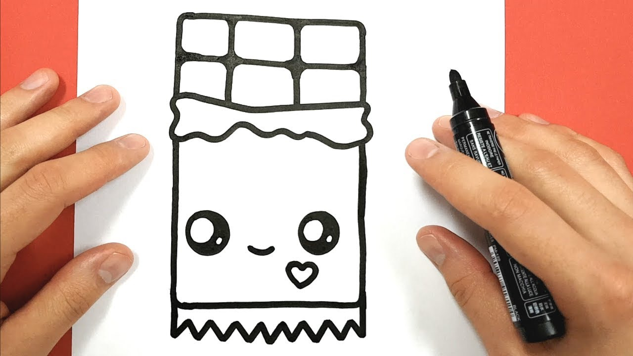 How To Draw A Kawaii Chocolate Bar encequiconcerne Tablette Chocolat Dessin