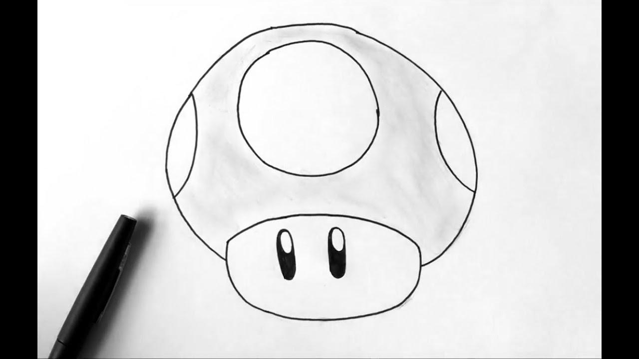How To Draw A Mushroom - Mario pour Dessiner Un Champignon
