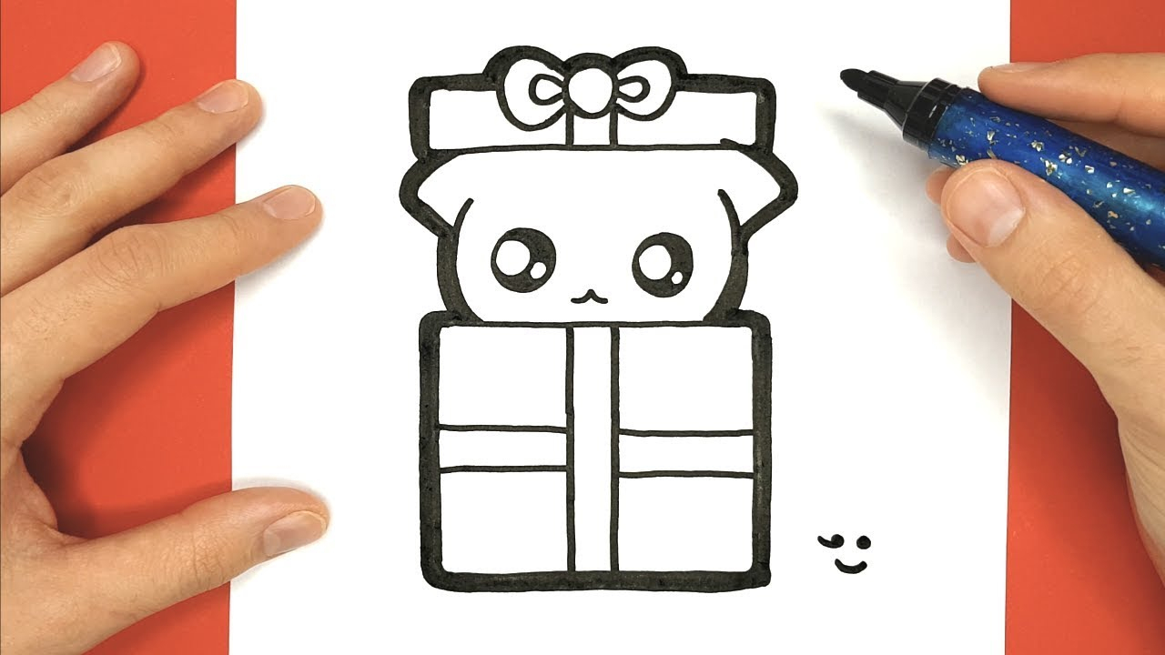 How To Draw And Color Baby Cat In Christmas Gift dedans Coloriage De Chat De Noel
