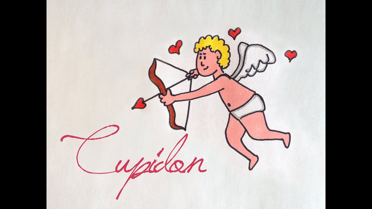 How To Draw Easy Cupid - Comment Dessiner Cupidon Facile avec Dessin Moufette