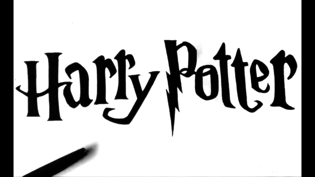 How To Draw Harry Potter Logo dedans Dessin D Harry Potter