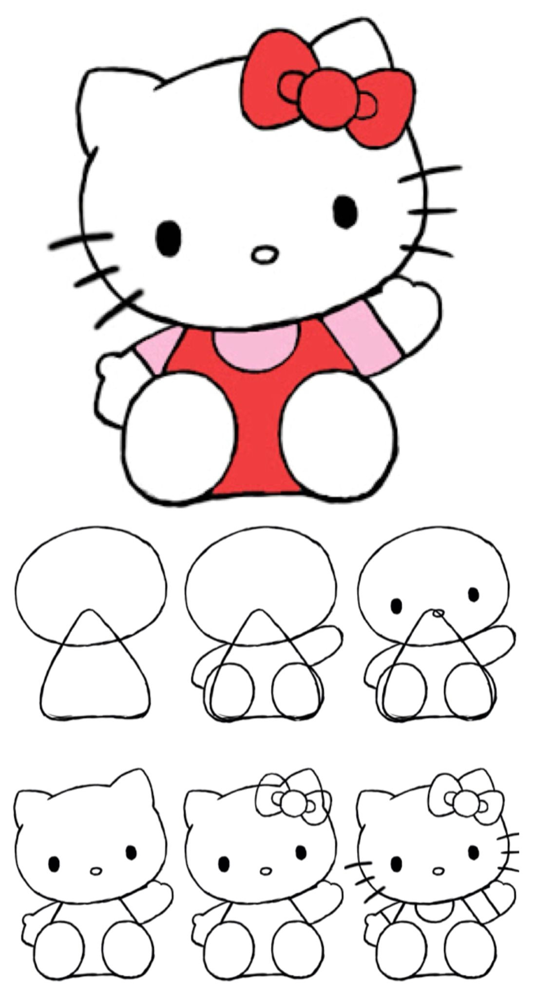 How To Draw Hello Kitty | Dessin, Dessin Hello Kitty Et à Hello Kitty À Dessiner