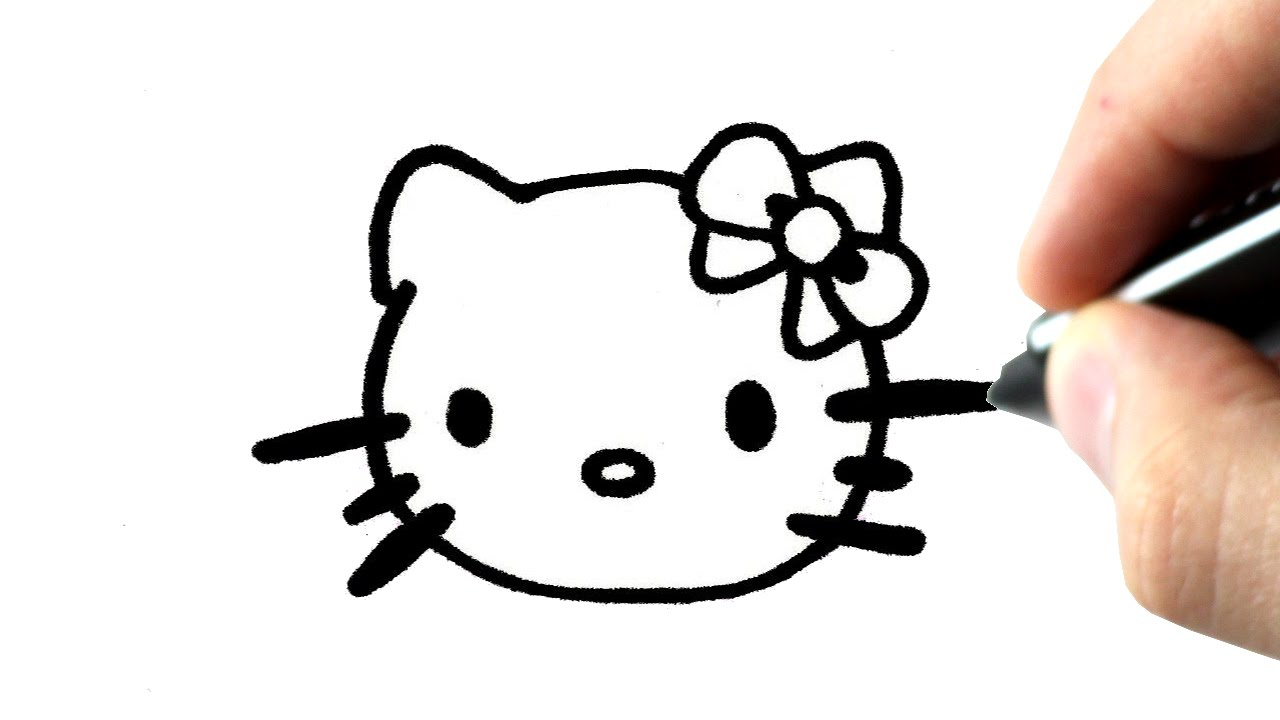 How To Draw Hello Kitty Step By Step tout Hello Kitty À Dessiner