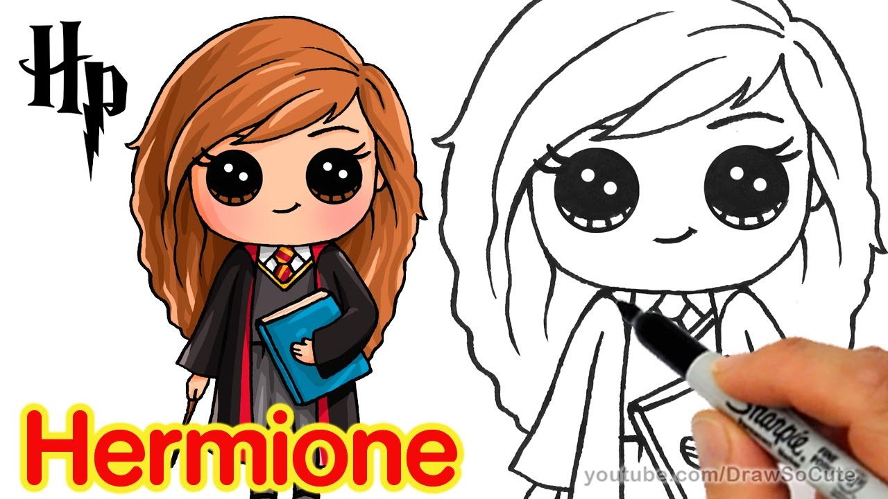 How To Draw Hermione Easy | Harry Potter à Dessin D Harry Potter