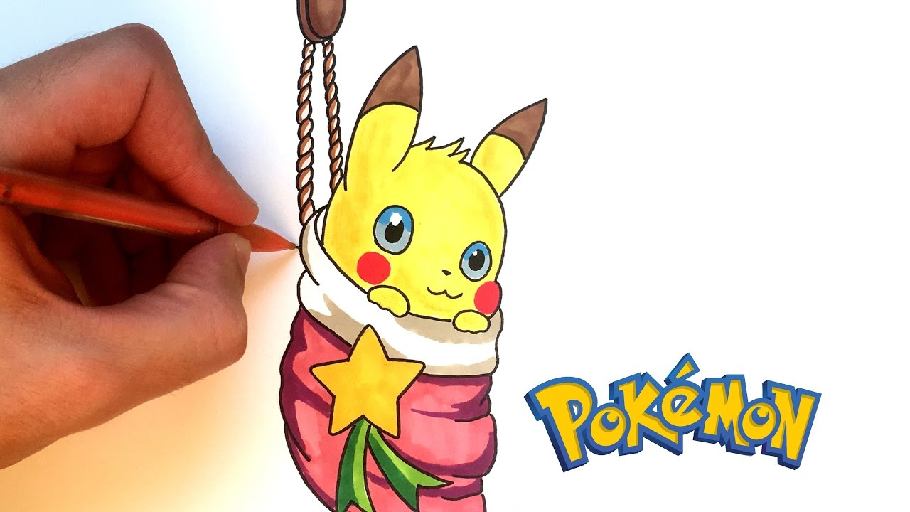 How To Draw Pikachu For Christmas (Pokémon) à Dessin De Pikachu Facile