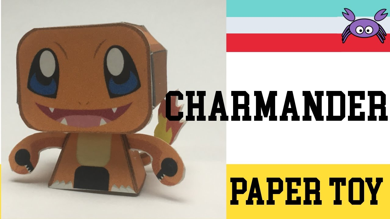 How To Make A Pokemon Charmander Paper Toy ( Papercraft ) (Free Template)  By Becks Junkie tout Paper Toy A Imprimer