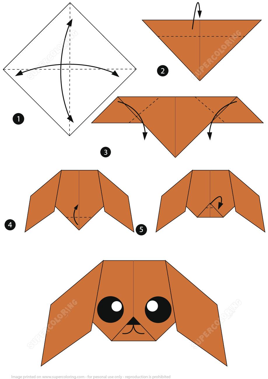 How To Make An Origami Poodle Instructions | Bricolages En à Paper Toy A Imprimer