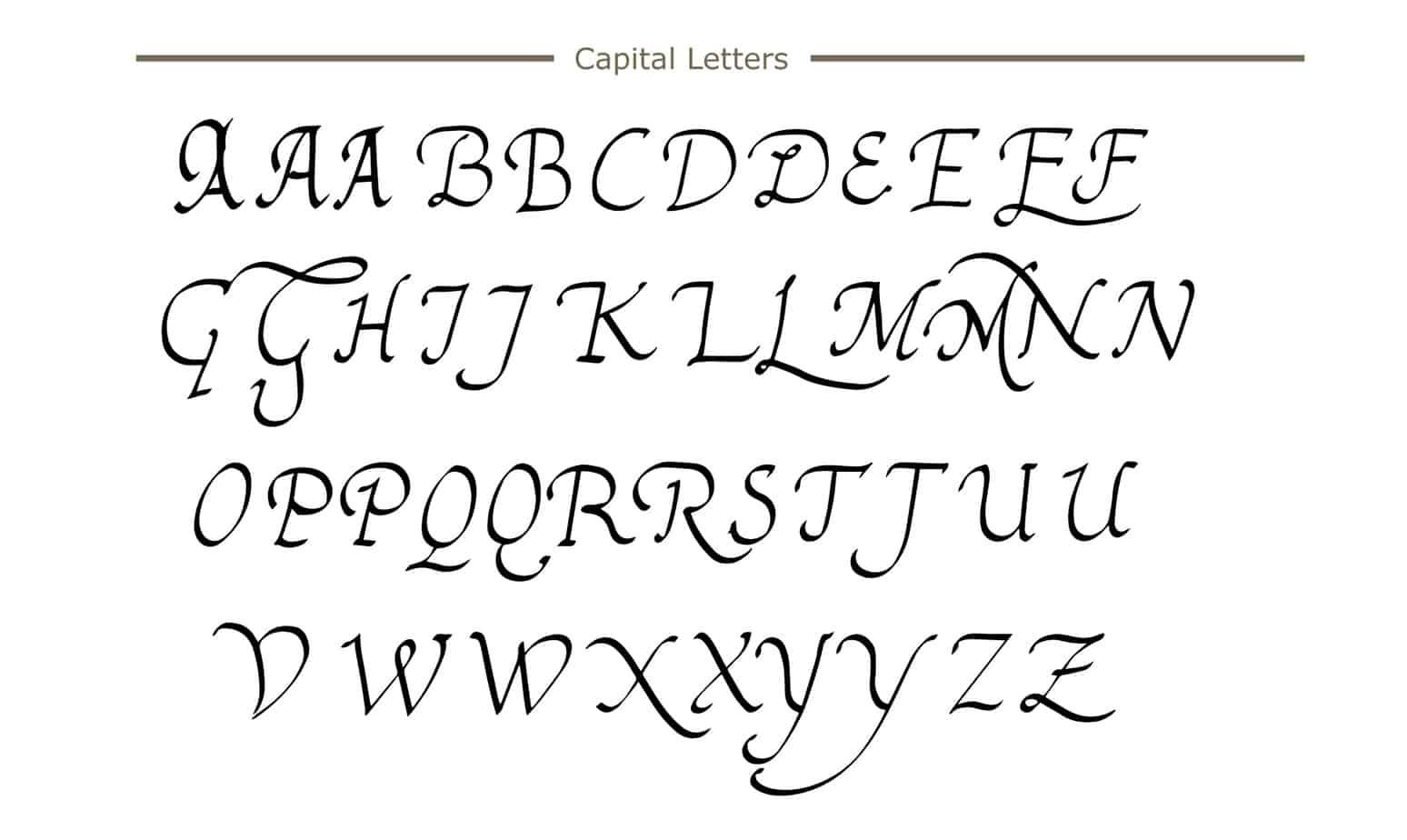 How To Write Calligraphy? A Complete Beginners Guide To encequiconcerne Alphabet Script Minuscule