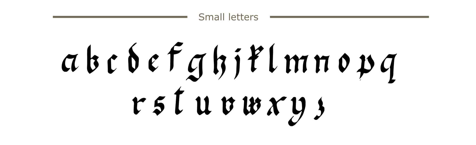 How To Write Calligraphy? A Complete Beginners Guide To intérieur Alphabet Script Minuscule