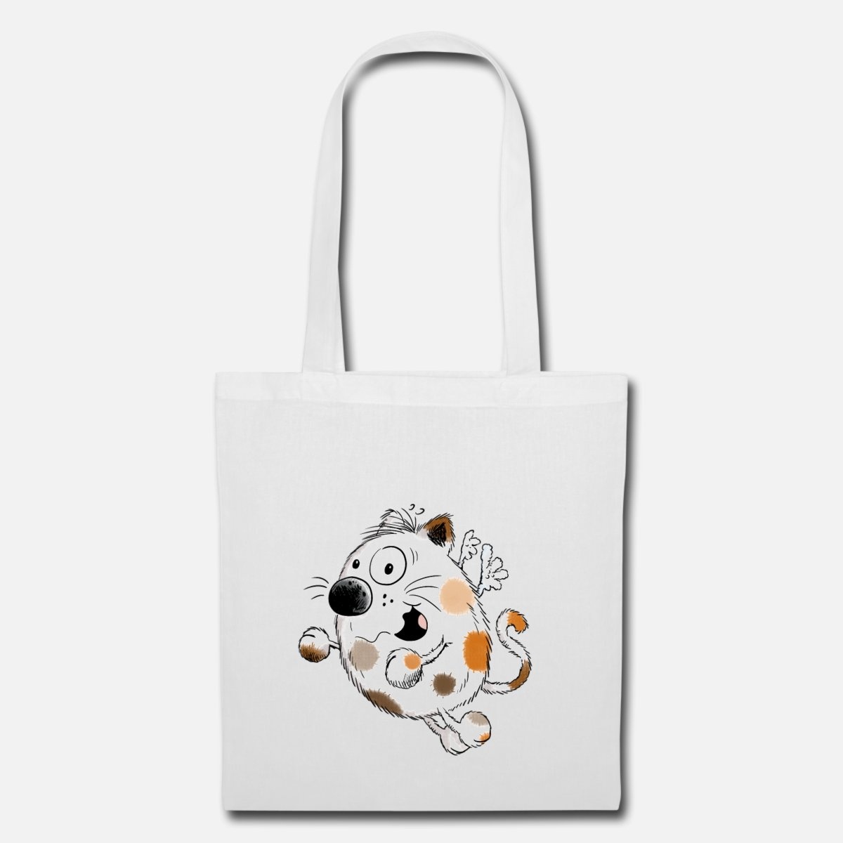 Hug Me Chat Dessin Animé - Cadeau Tote Bag - Blanc concernant Minou Dessin