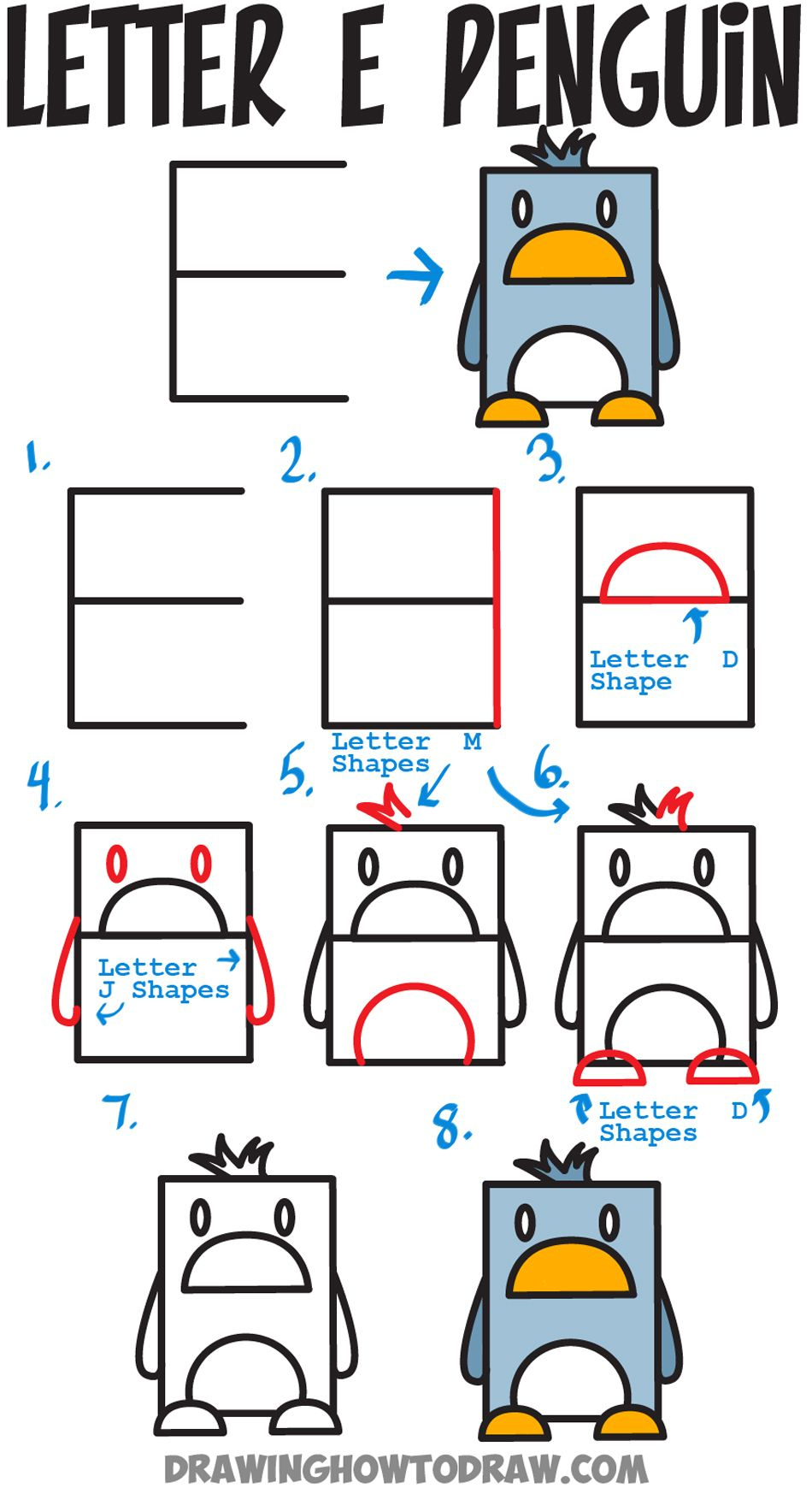 Huge Guide To Drawing Cartoon Characters From Uppercase pour Dessin Lettre E