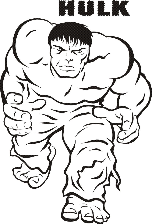 Hulk (Super-Héros) – Coloriages À Imprimer dedans Coloriage A4 Imprimer Gratuit