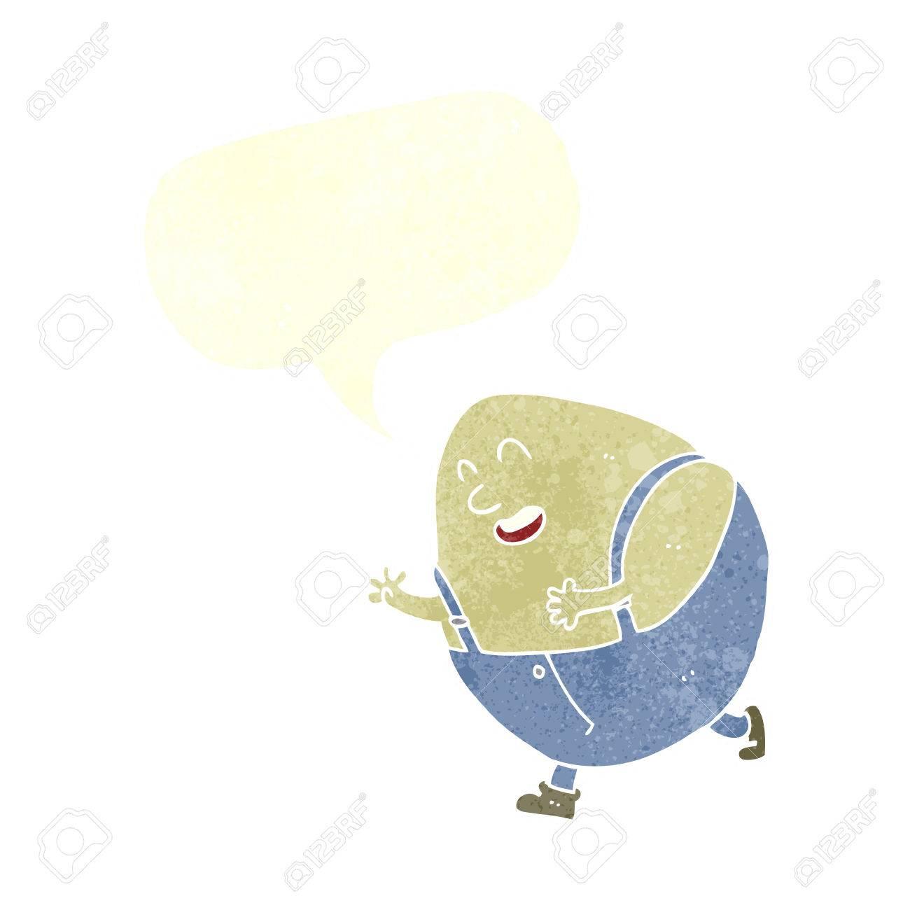 Humpty Dumpty De Personnage De Dessin Animé D'oeuf Avec Bulle serapportantà Dessin D Oeuf