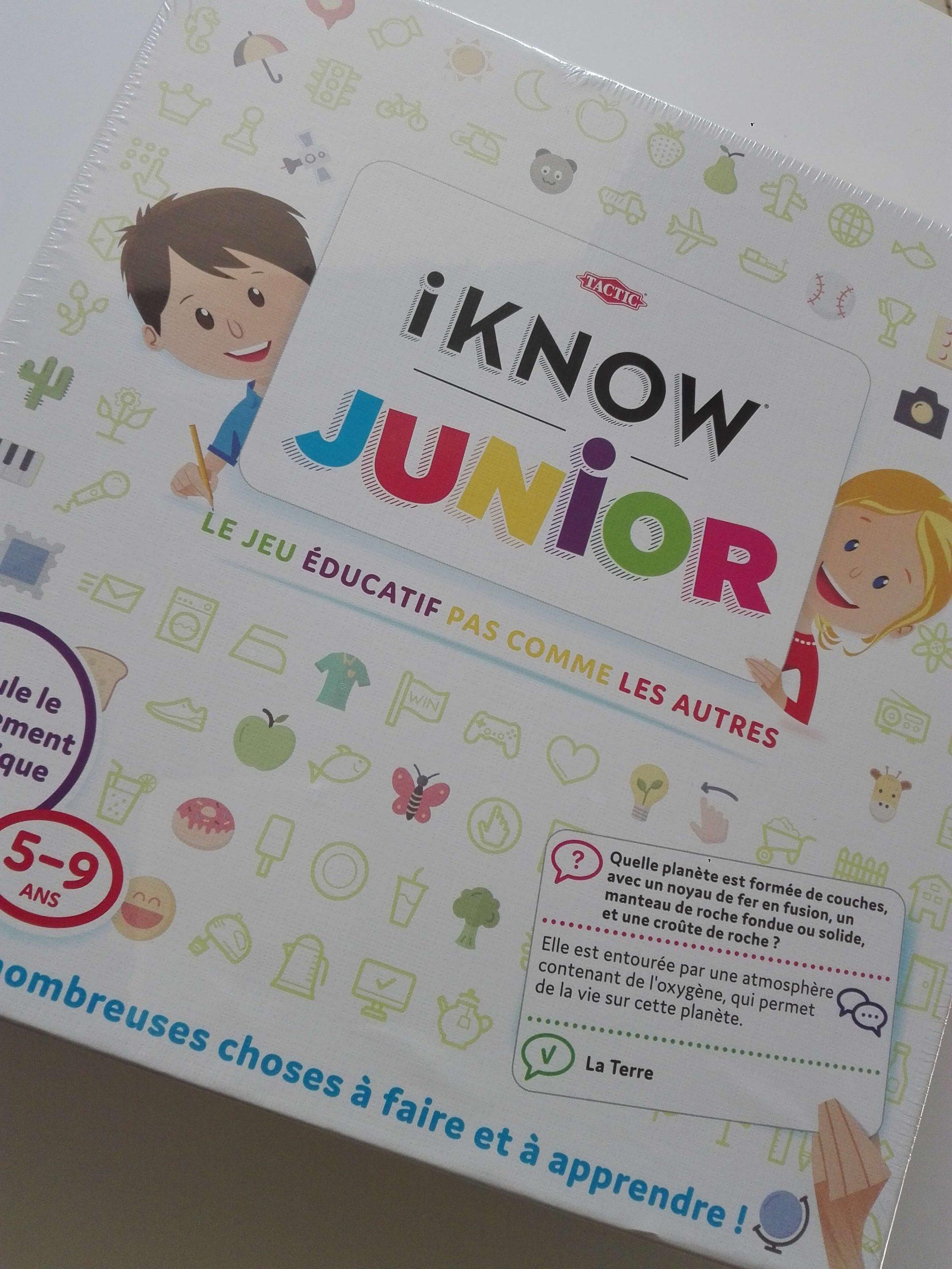 I Know Junior, Le Jeu Éducatif Pas Comme Les Autres - Maman dedans Jeux Educatif 9 Ans