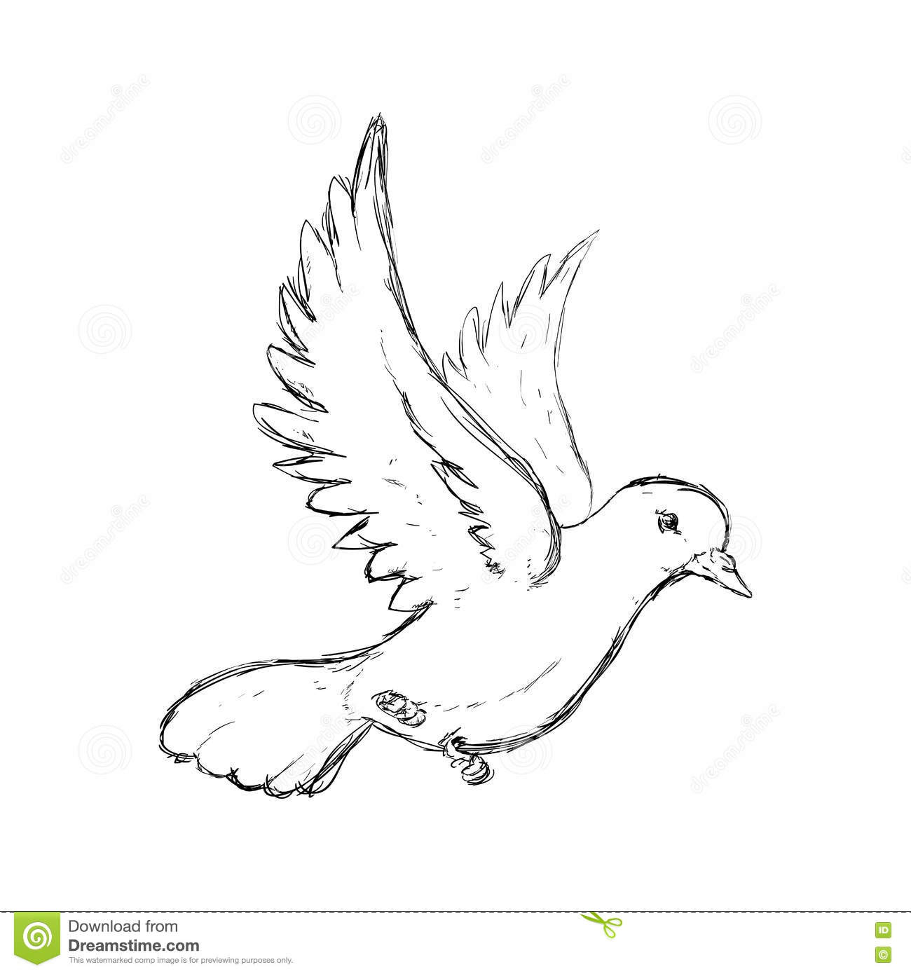 Icône De Colombe Conception D'oiseau Et De Paix Dessin De encequiconcerne Dessin D Oiseau Simple