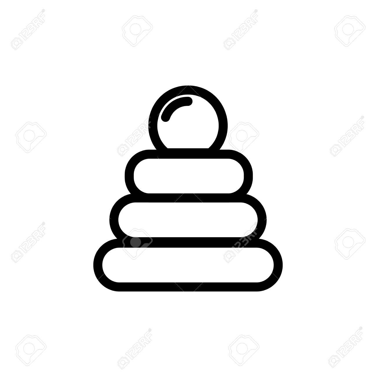 Icône De Fine Ligne De Jouet Pyramide Bébé. Outline Symbole Symbole De Jeu  Pour La Conception De Webstie Et Applications Mobiles Pour Enfants. pour Jeux Pour Bébé En Ligne