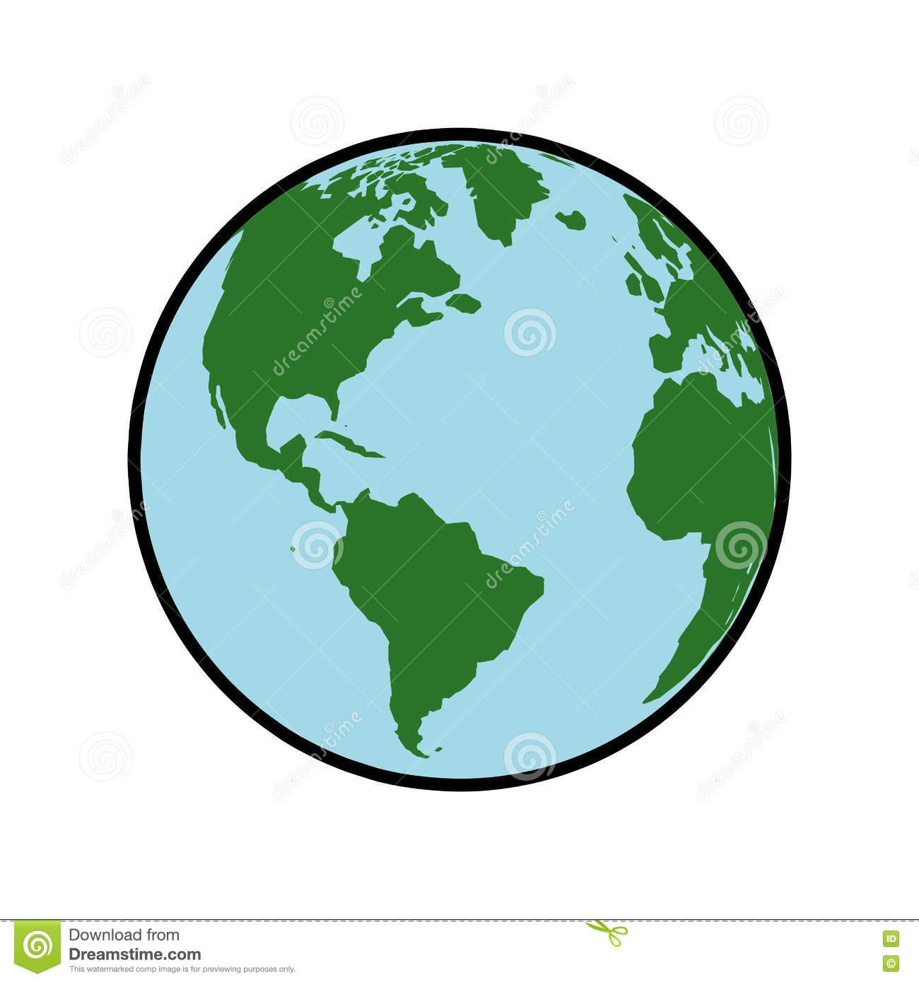 Icône De Sphère Du Monde De La Terre De Carte De Planète destiné Image De La Terre Dessin