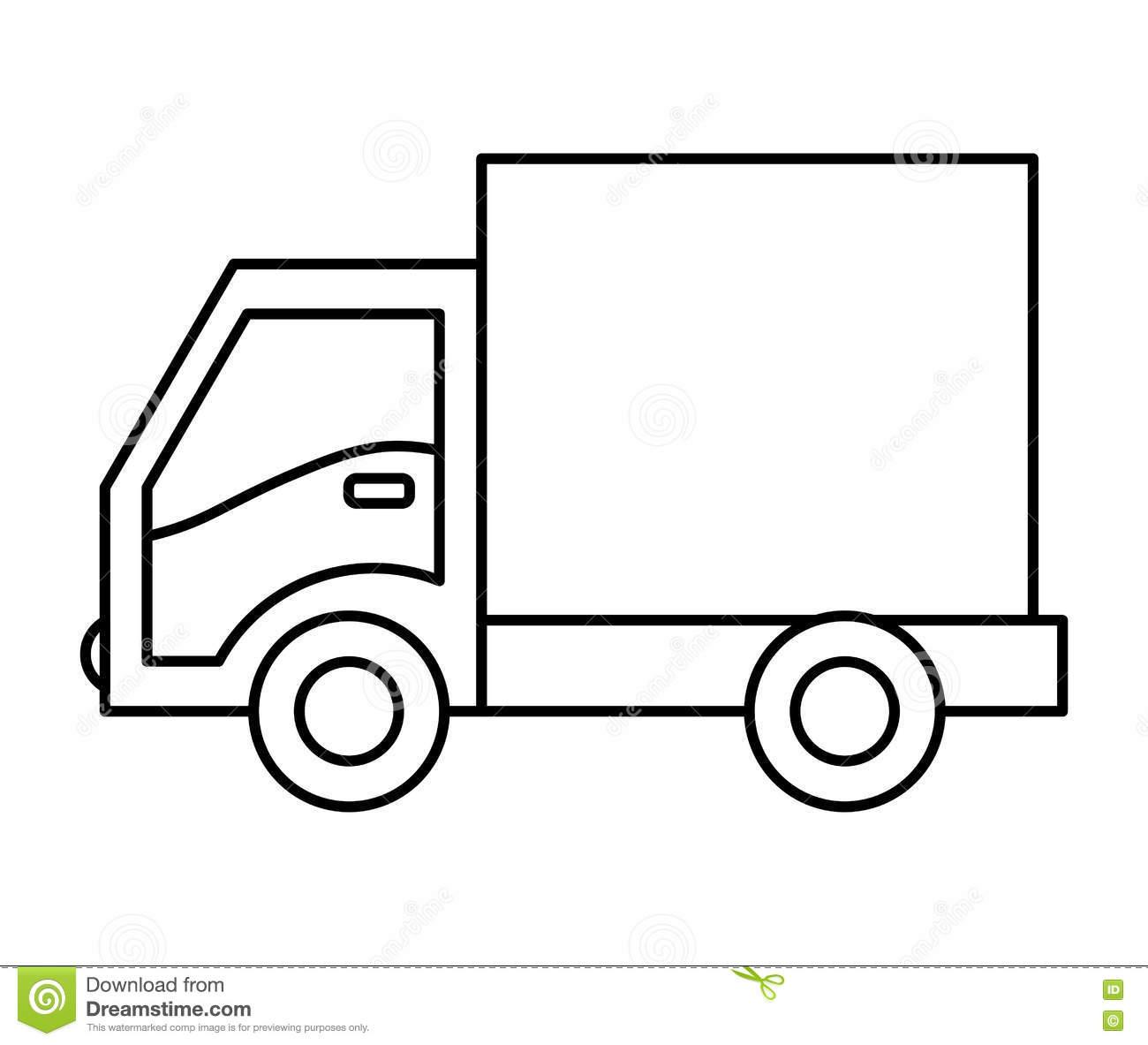 Icône Dessin Vecteur De La Livraison Camion Conception Eyd29Iewh destiné Dessin D Un Camion