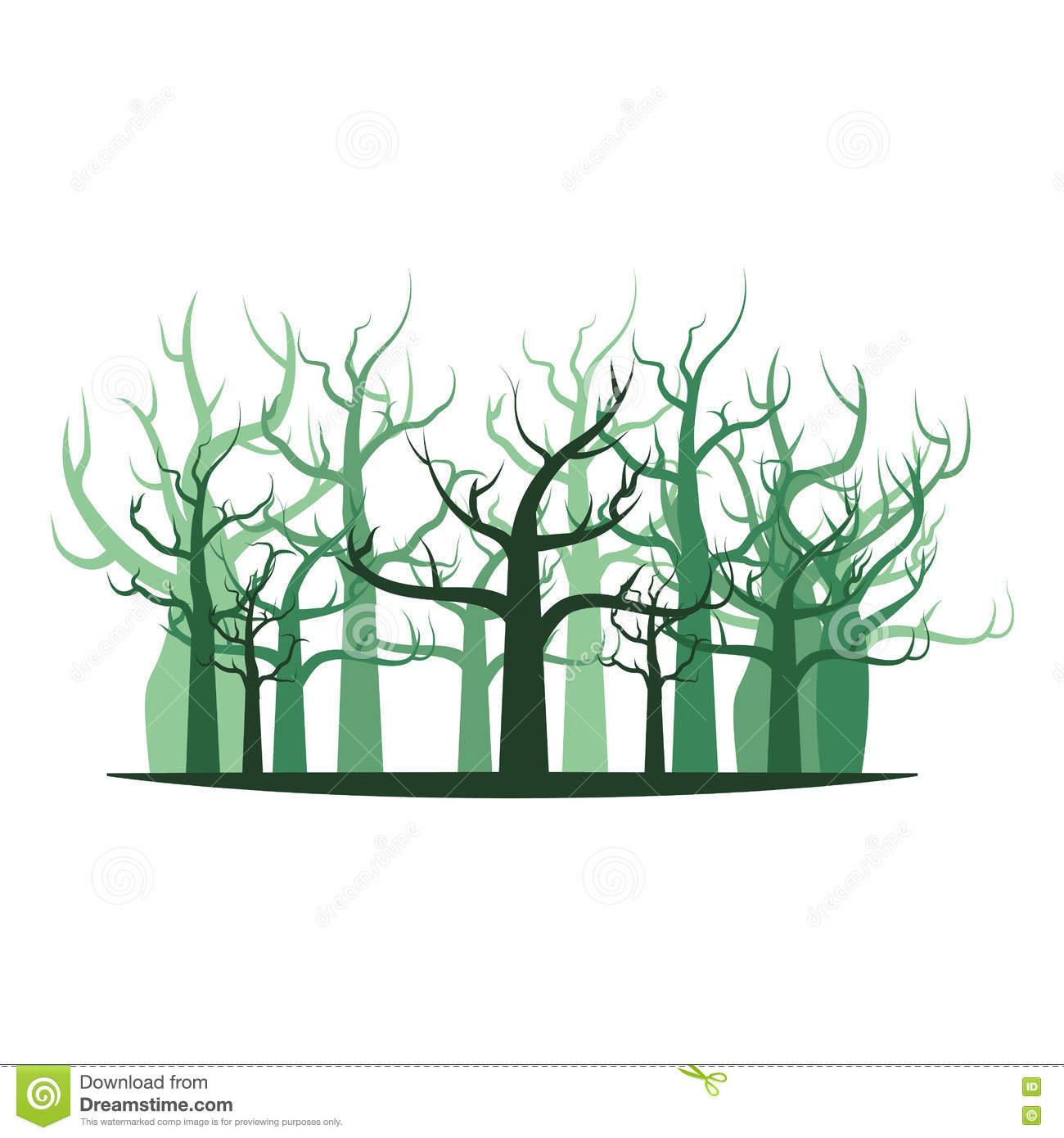 Icône D'isolement Par Dessin De Main De Branche De Forêt D serapportantà Dessin De Foret