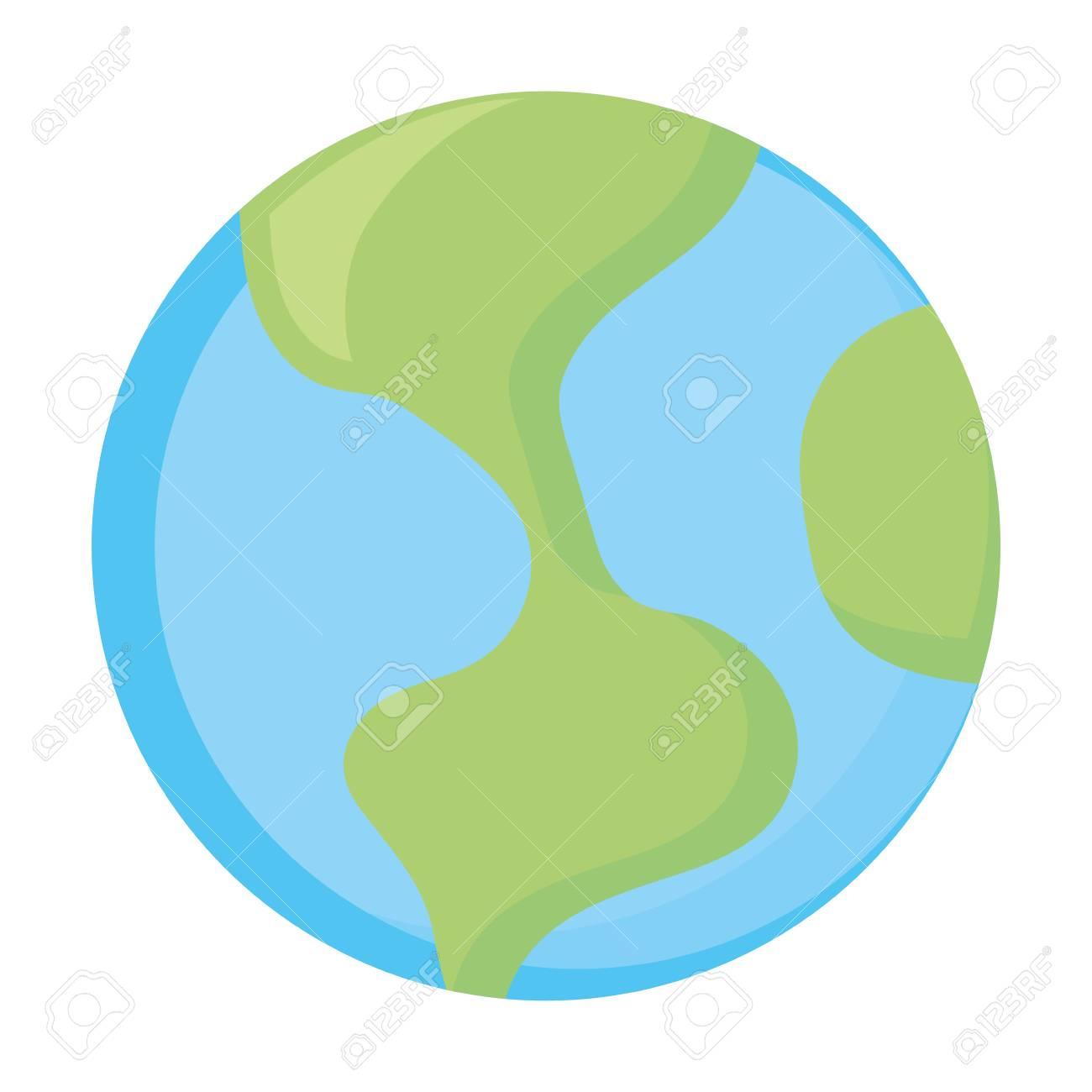 Icône Du Monde Terre Symbole Dessin Animé Vector Illustration Graphique intérieur Image De La Terre Dessin