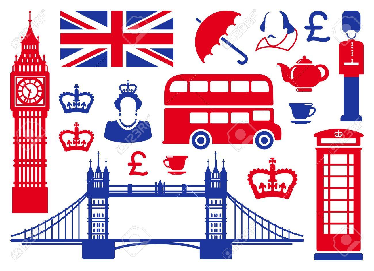 Icons On A Theme Of England tout Dessin De Angleterre