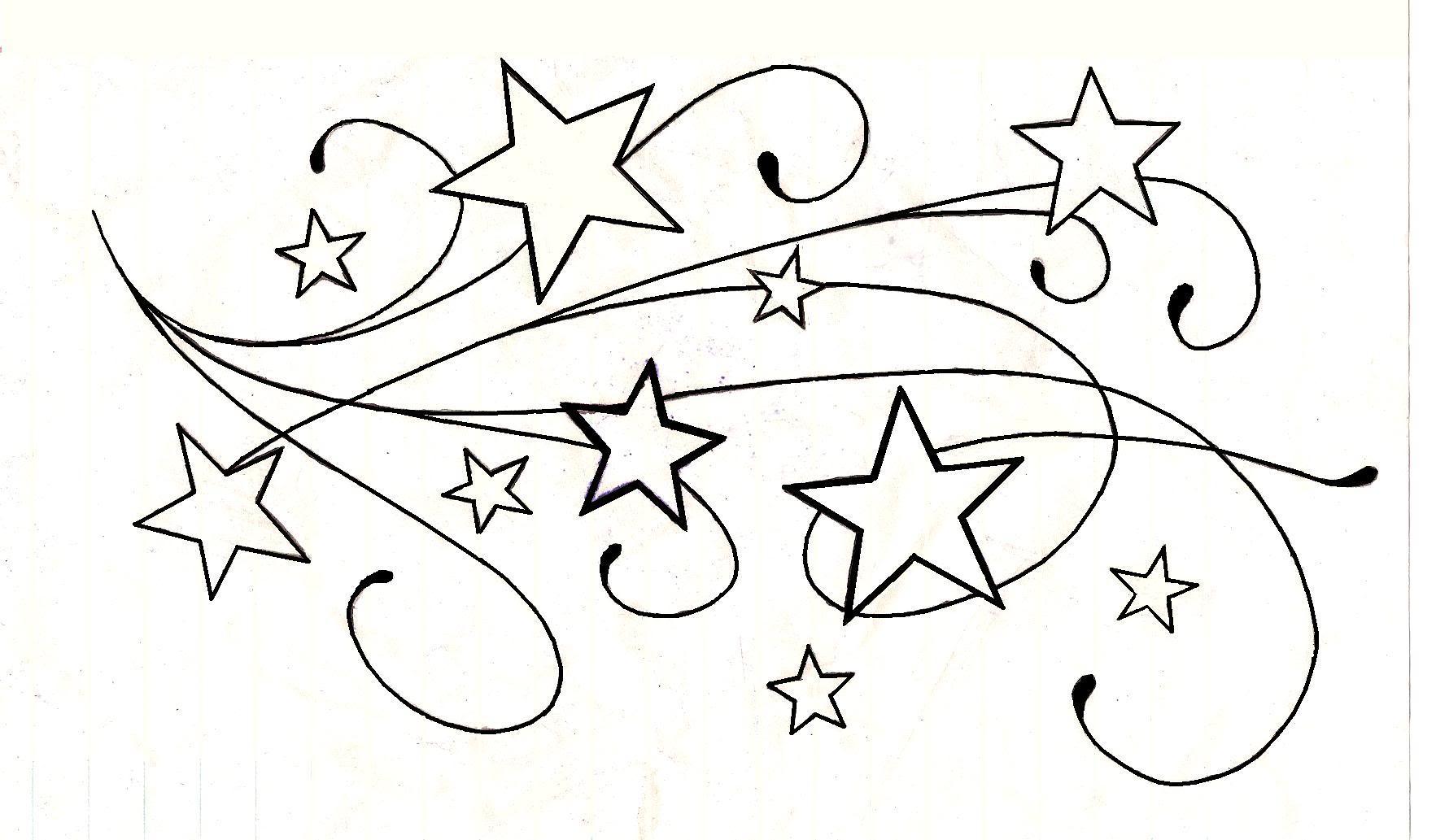 Idée Uage Étoile Dessin - Modèle De Tattoo #322561 destiné Dessin Chiffre Romain