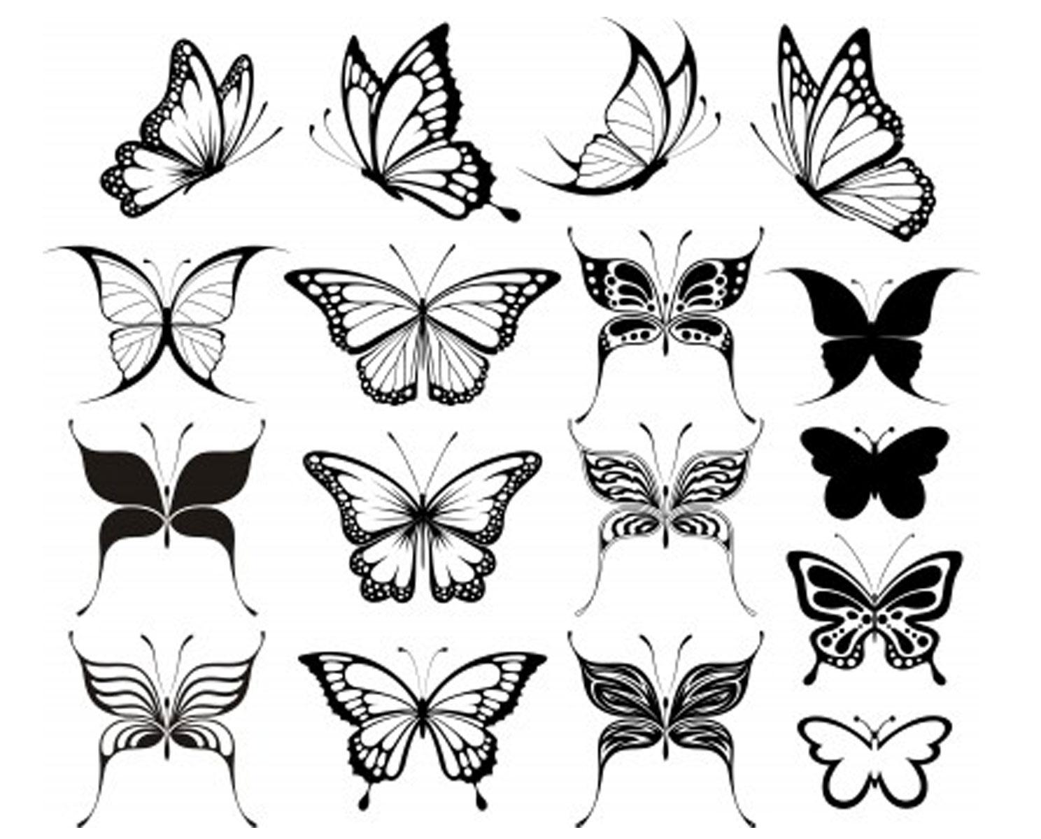 Idée Uage Papillon Dessin - Modèle De Tattoo #351563 intérieur Papillon À Dessiner