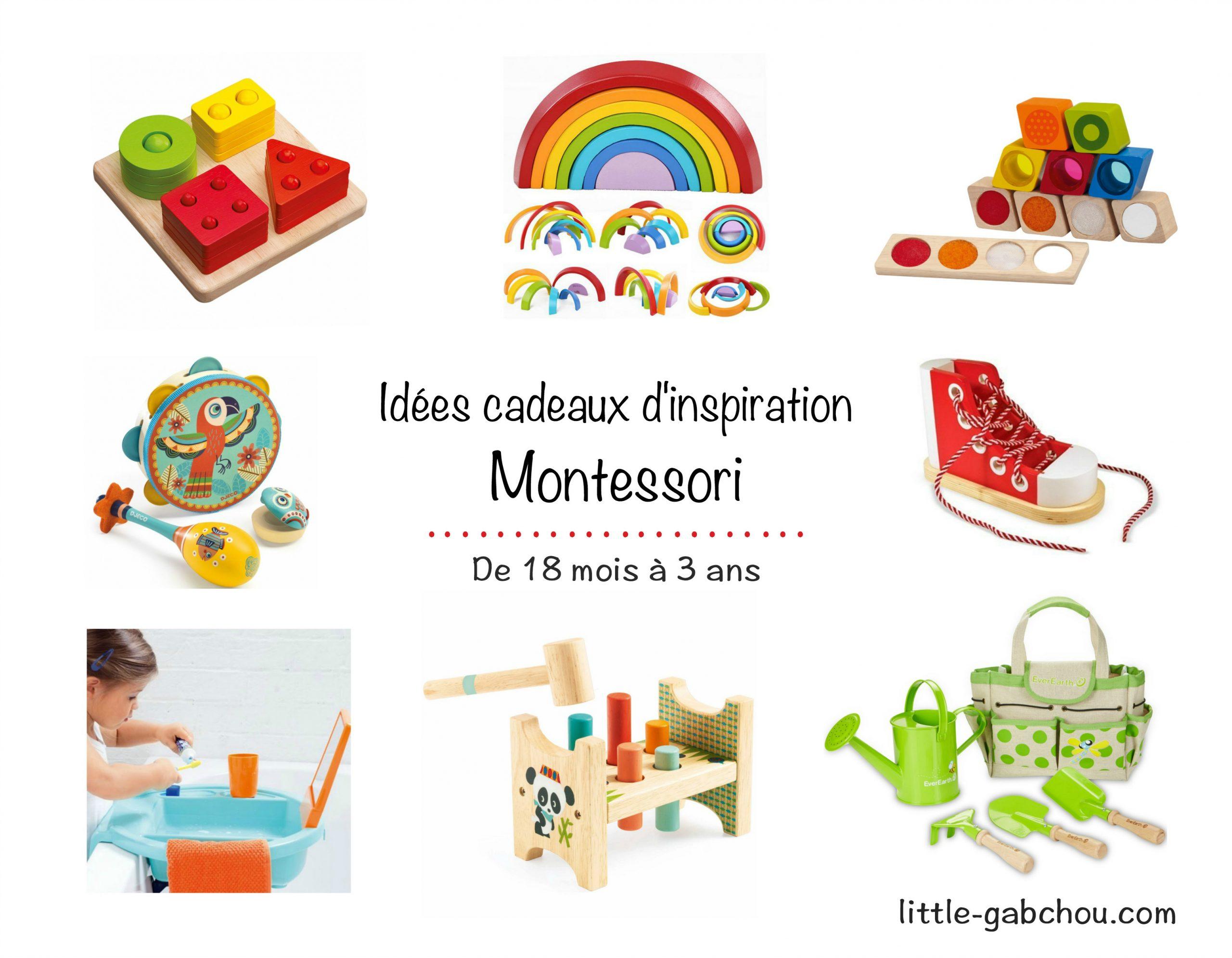 Idées Cadeaux Montessori Pour Enfants De 18 Mois À 3 Ans destiné Jeux Bebe 3 Ans