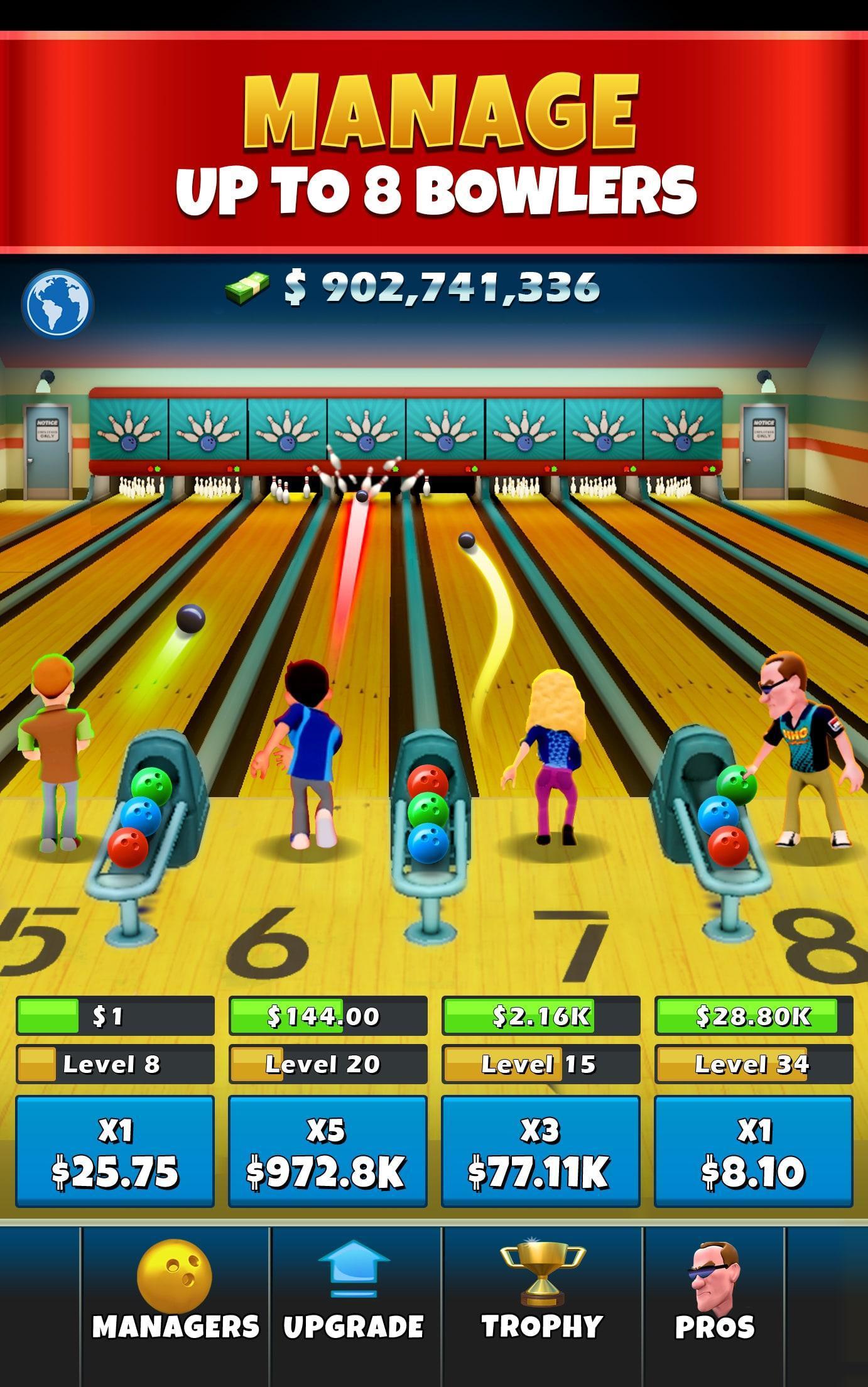 Idle Bowling Pour Android - Téléchargez L'apk pour Jeux Gratuits De Bowling