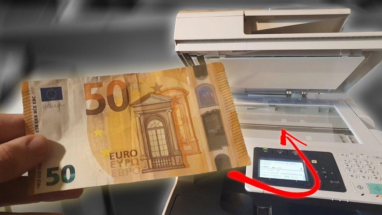 Il Essaie De Photocopier Un Billet De Banque concernant Billet Euro A Imprimer