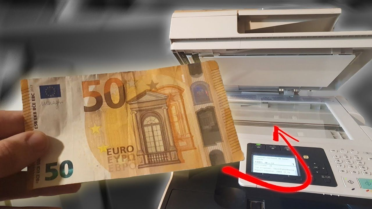 Il Essaie De Photocopier Un Billet De Banque intérieur Billet De 50 Euros À Imprimer
