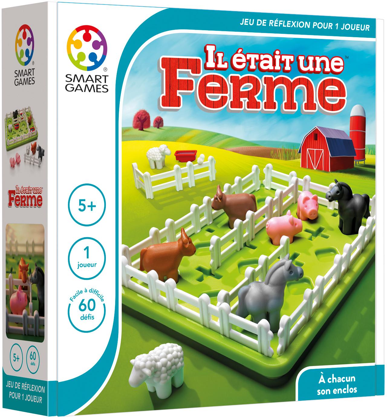 Il Était Une Ferme - Smartgames destiné Jeux Les Animaux De La Ferme