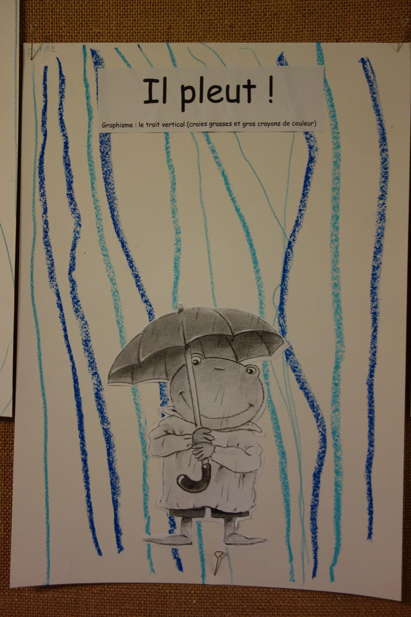 Il Pleut : Graphisme, La Ligne Verticale, Craies Grasses Et pour Exercice Petite Section En Ligne