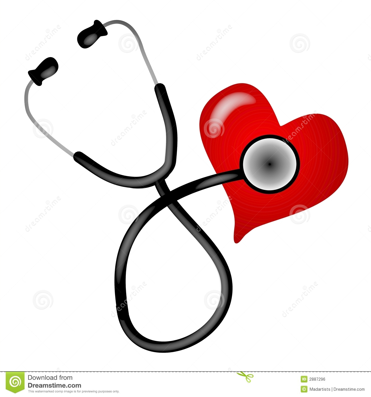Illustration De Coeur De Stéthoscope Illustration Stock concernant Stéthoscope Dessin