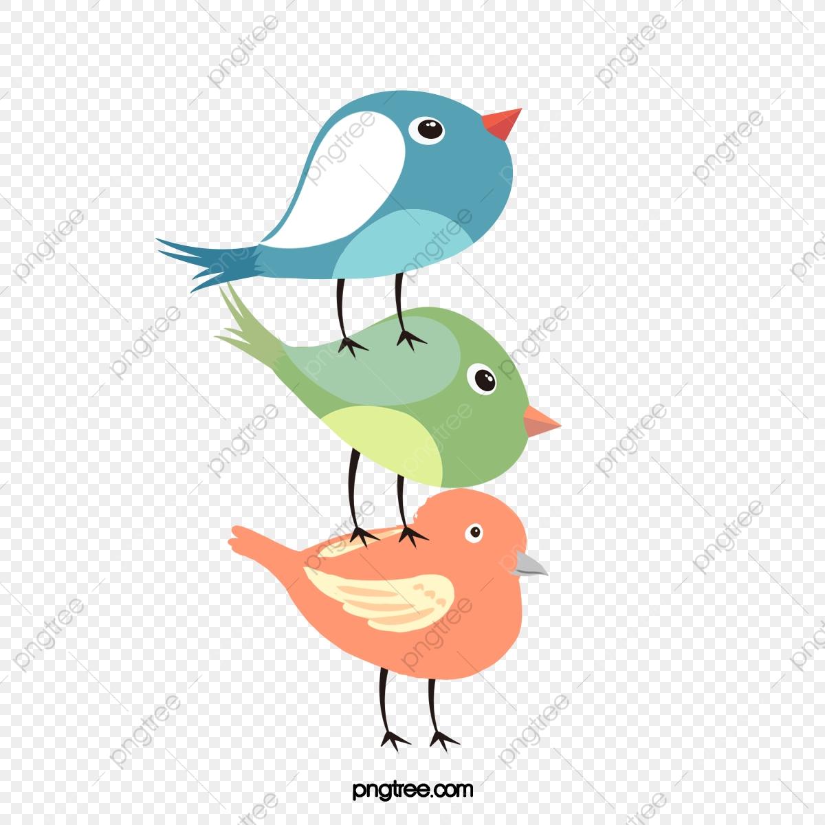 Illustration De Dessin Animé Mignon Oiseau Coloré, Raffiné avec Dessin D Oiseau Simple