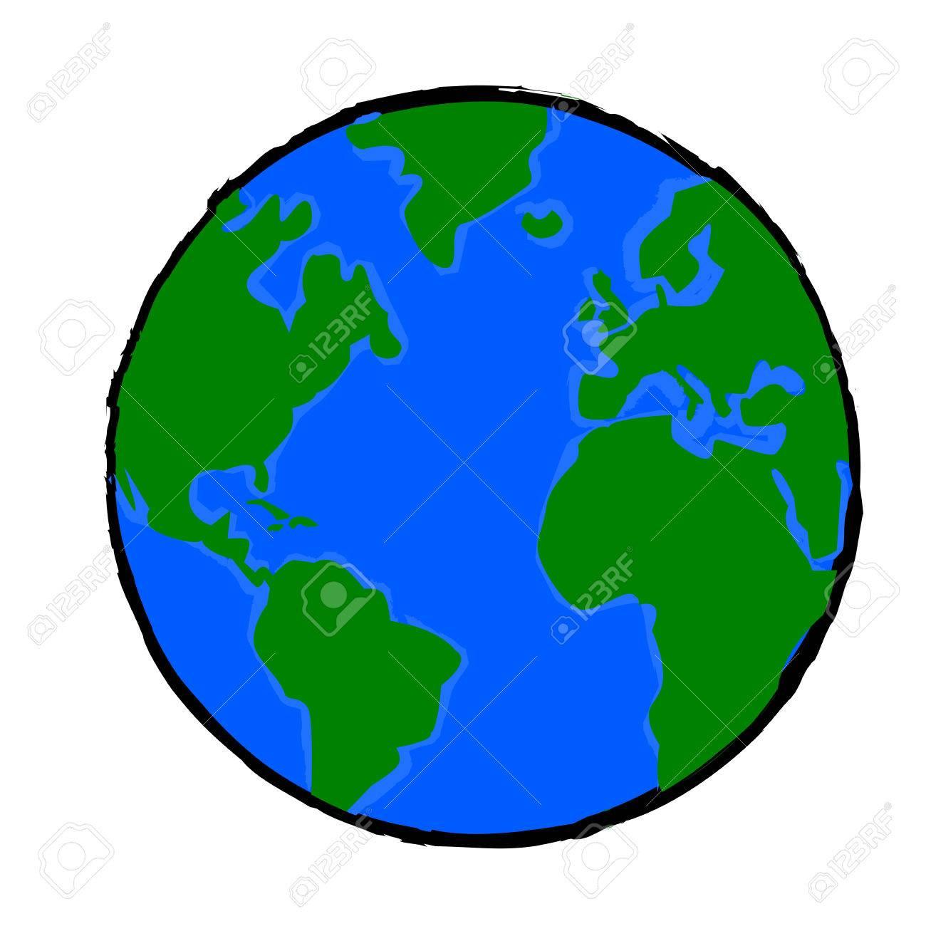 Illustration De Dessin Animé Montrant Une Planète Terre Peint concernant Image De La Terre Dessin