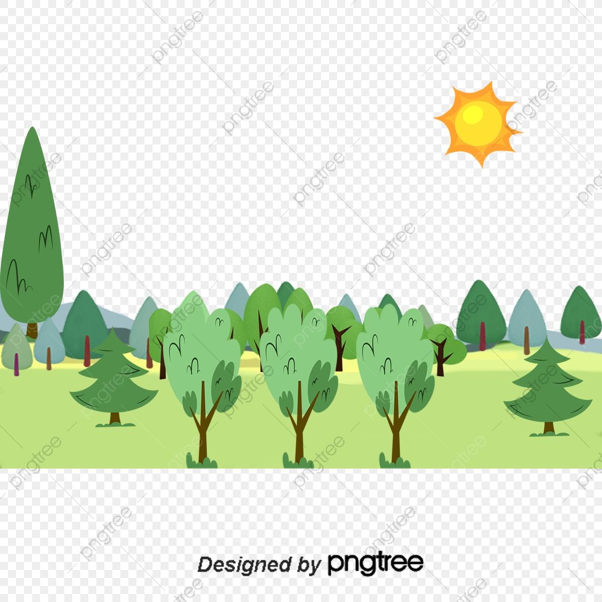 Illustration De La Forêt De Dessin Vectoriel, Forêt pour Dessin De Foret