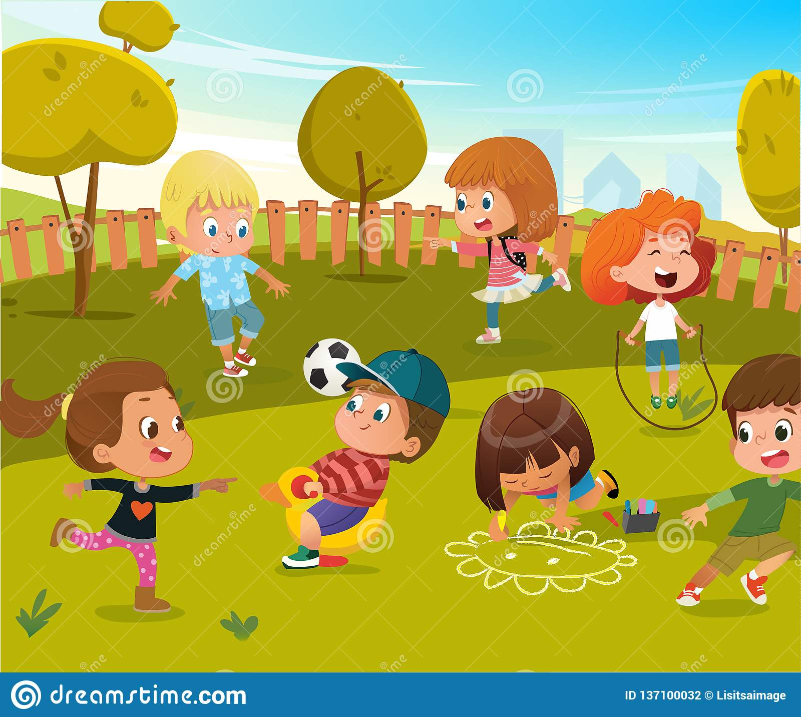 Illustration De Terrain De Jeu De Jardin D'enfants De Jeu De serapportantà Telecharger Jeux Bebe Gratuit