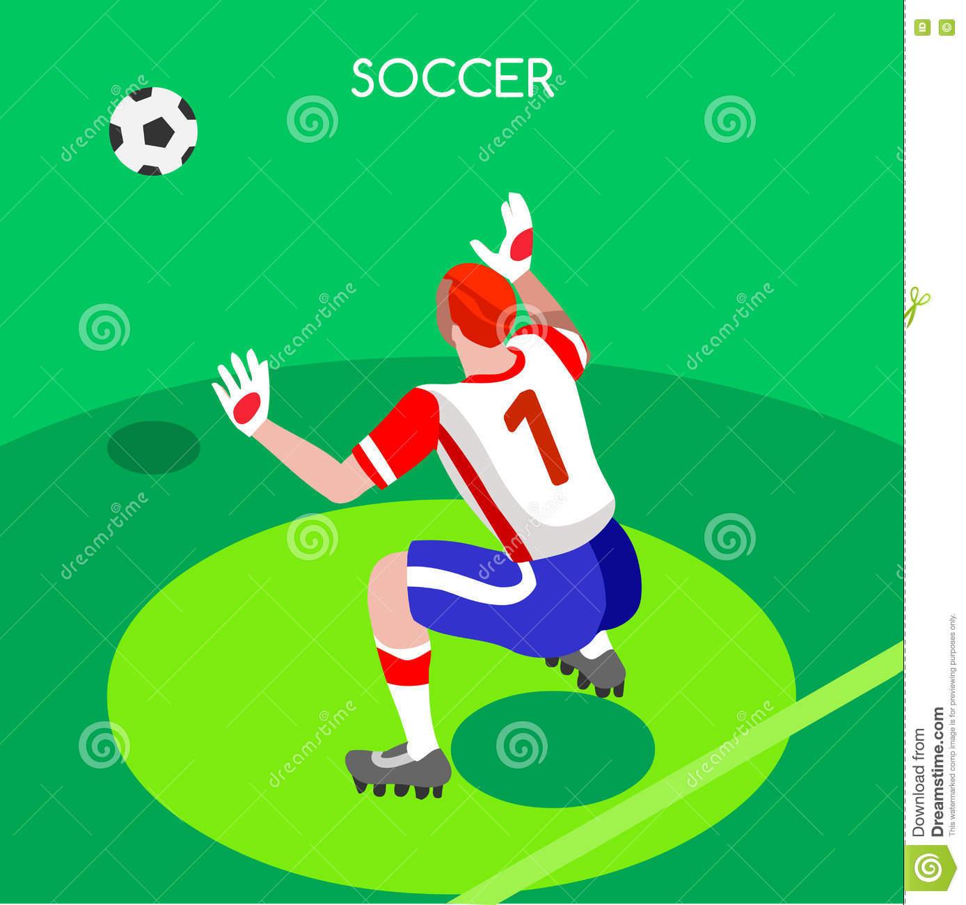 Illustration De Vecteur Des Jeux 3D D'été De Gardien De But avec Jeux De Gardien De Foot