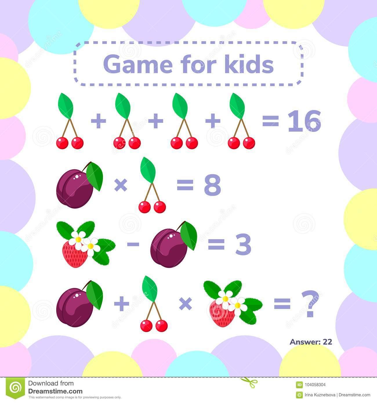 Illustration De Vecteur Éducatif Un Jeu Mathématique Tâche avec Jeux De Matematique