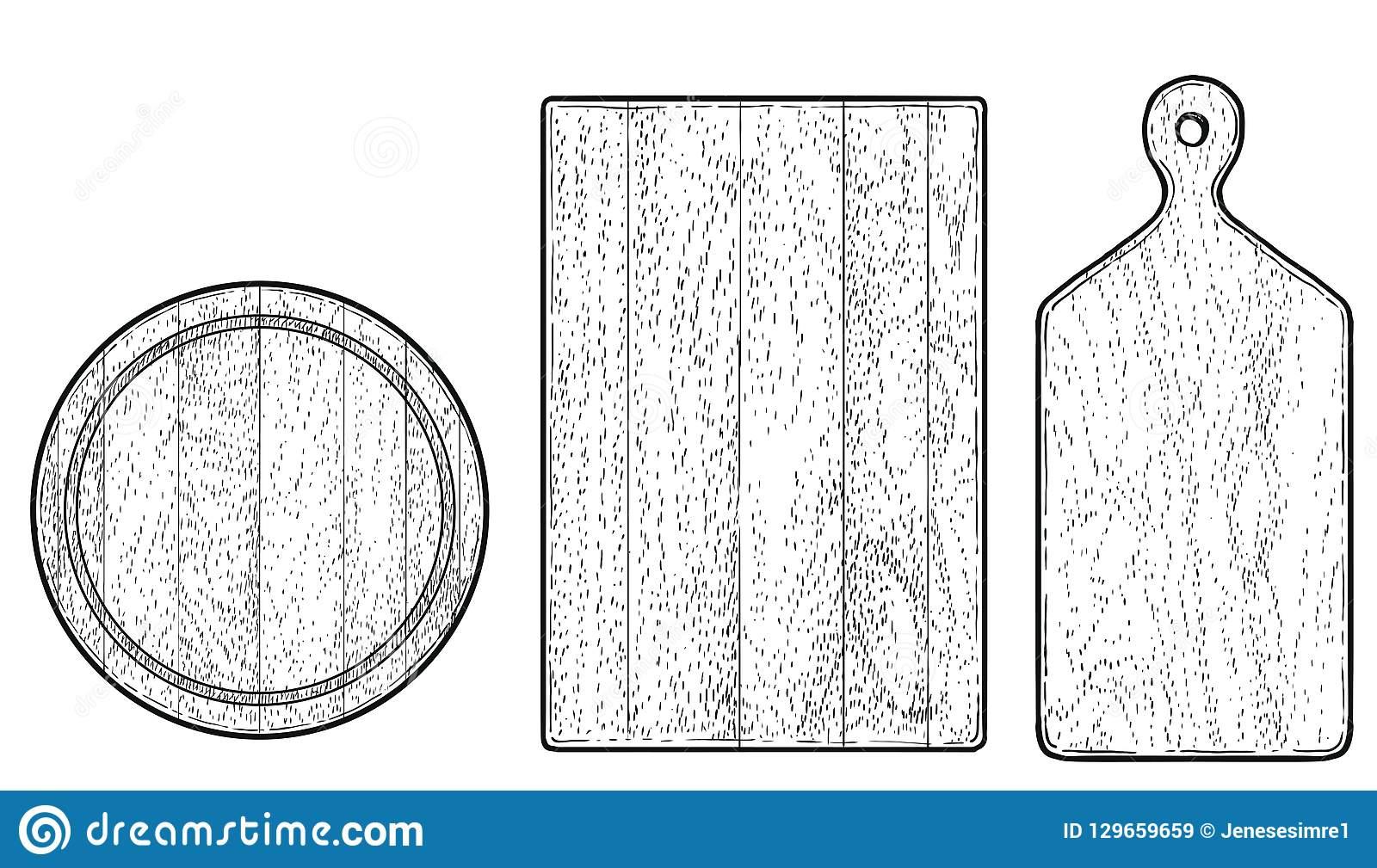 Illustration Du Bois De Planche À Découper, Dessin, Gravure à Dessin A Decouper
