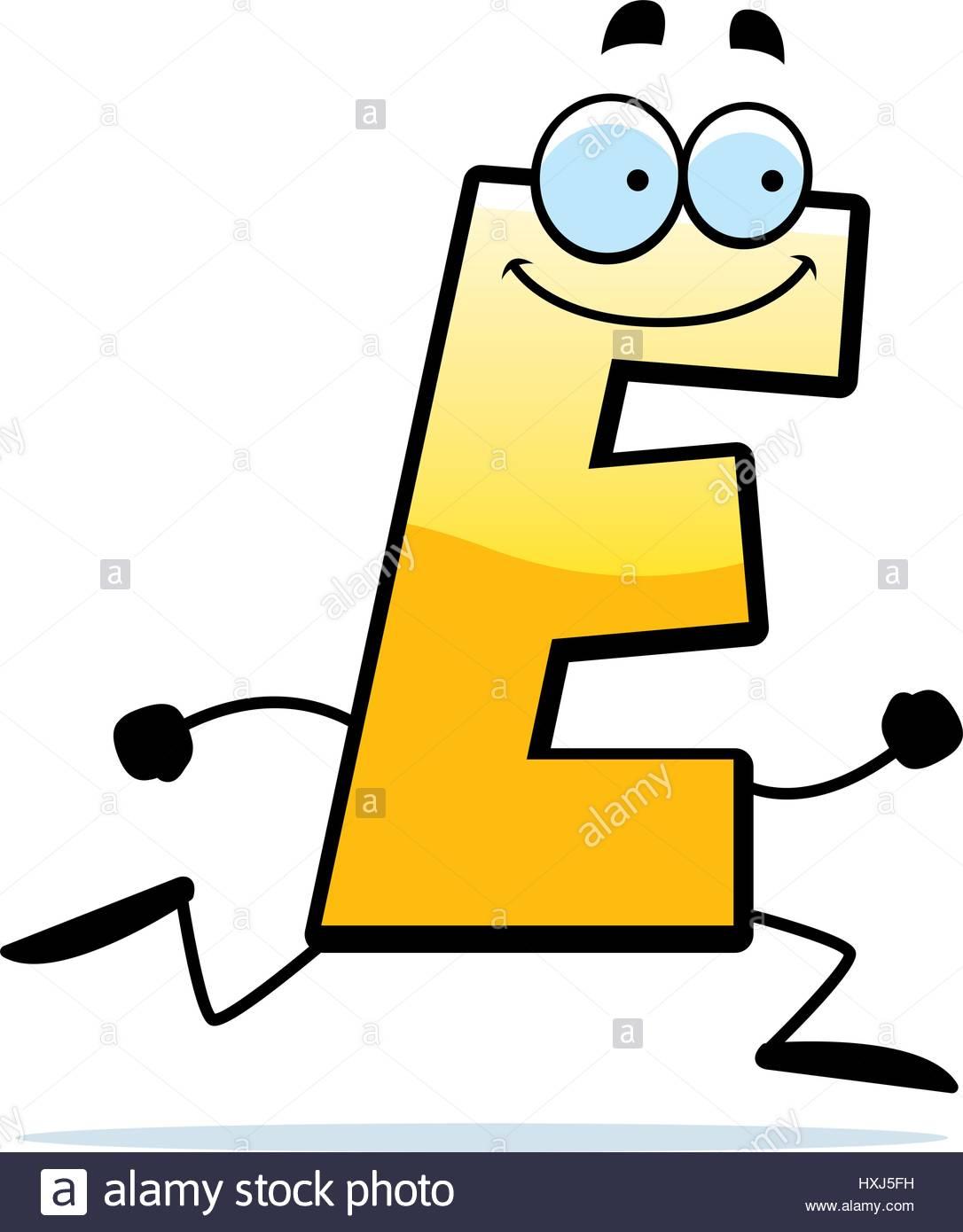 Illustration D'un Dessin D'une Lettre E En Marche Et pour Dessin Lettre E