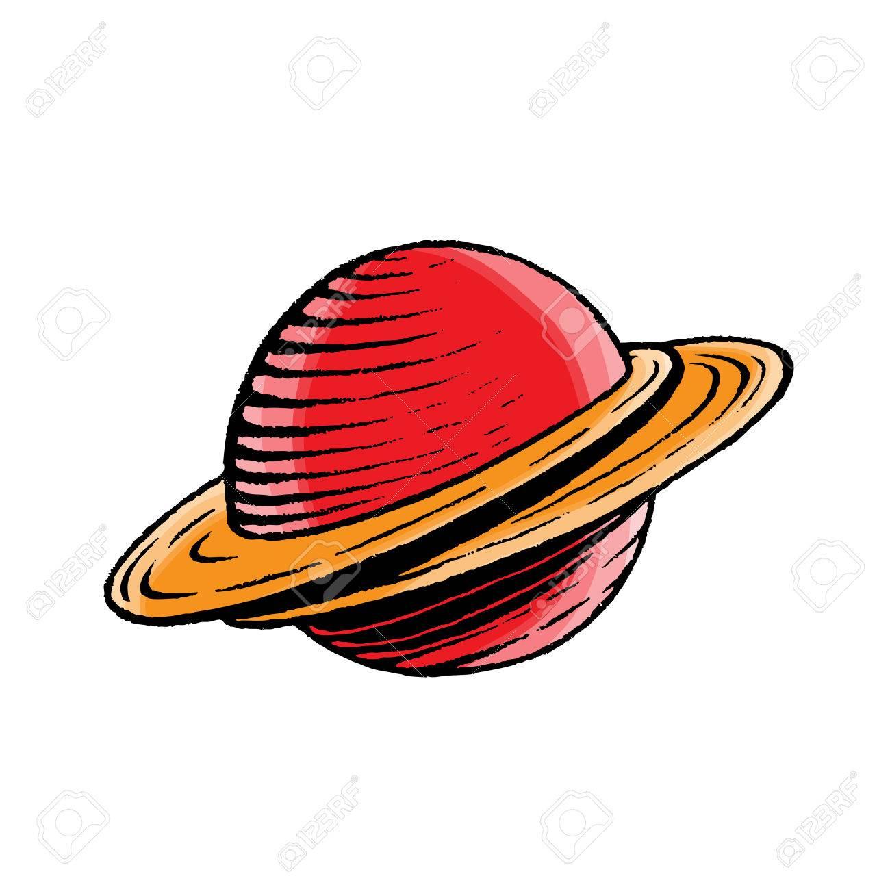 Illustration Vecteur D'un Scratchboard Style Encre Et Aquarelle Dessin D'un  Saturn Comme Planète encequiconcerne Saturne Dessin