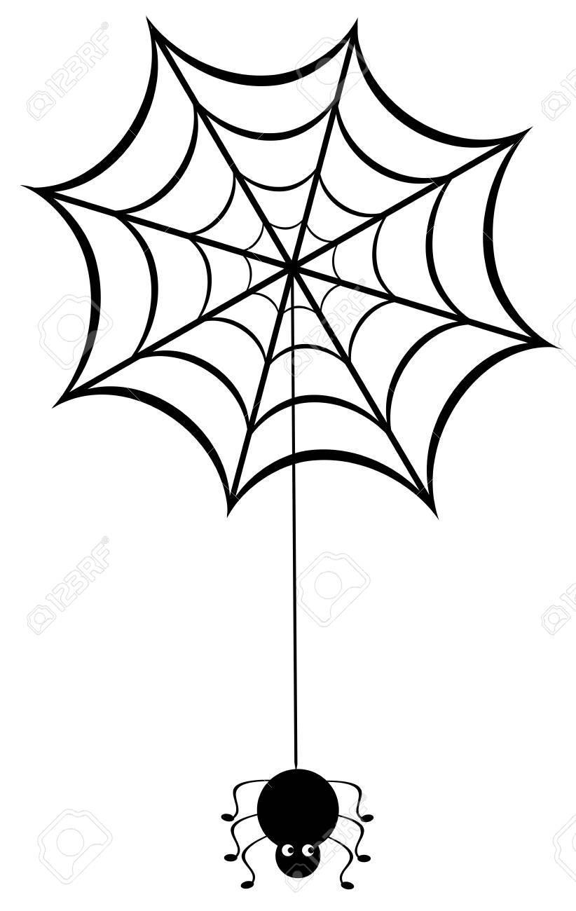 Illustration Vectorielle D'une Toile D'araignée Avec Des Araignées avec Toile D Araignée Dessin