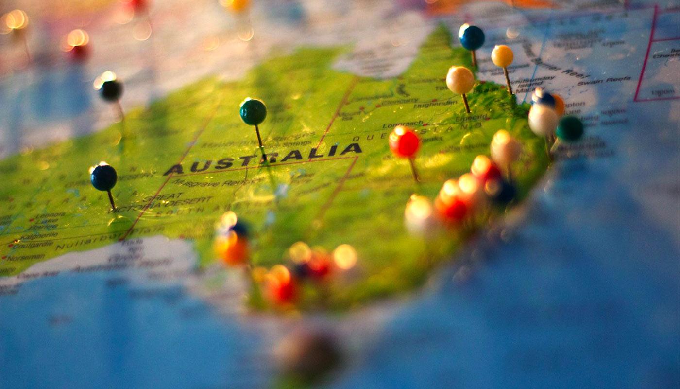 Illustrations | 10 Cartes De L'australie - Go Study Australia pour Carte D Europe En Francais