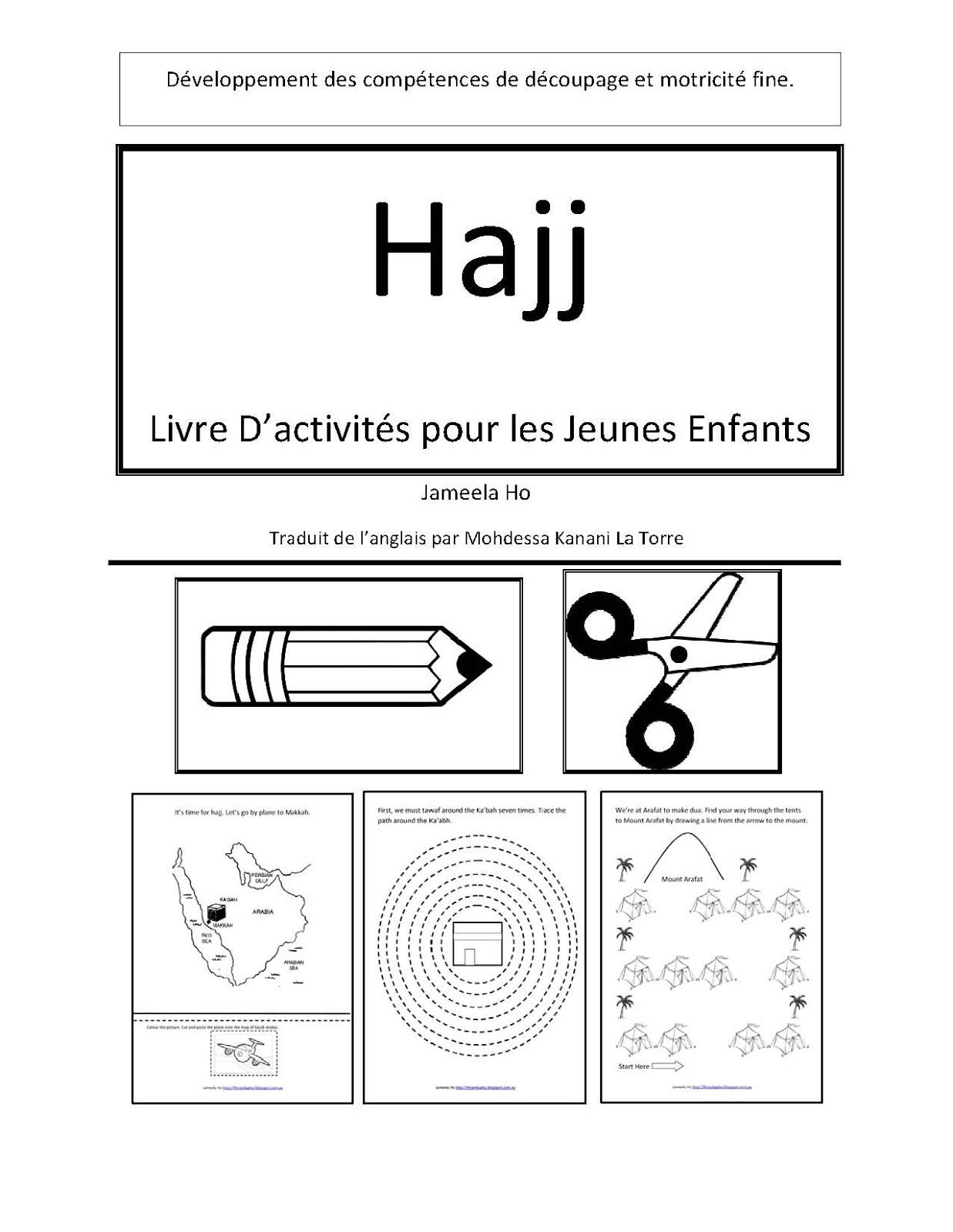 Ilma Education: Hajj: Livre D'activités Pour Les Jeunes Enfants concernant Decoupage Pour Enfant